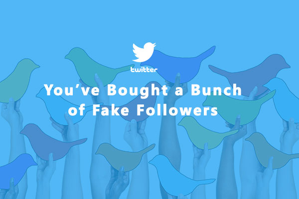 You Have Bought a Bunch of Fake Followers